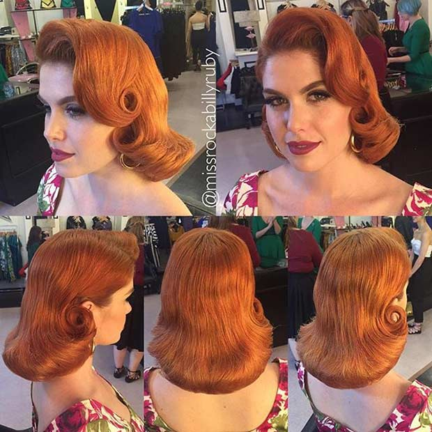 Glamorous Wavy Pin Up Hairstyle