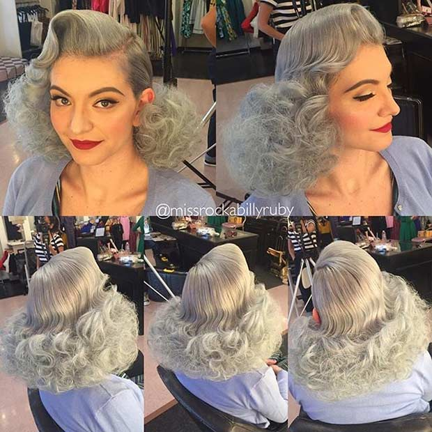 Curly Pinup Hairstyles Picture