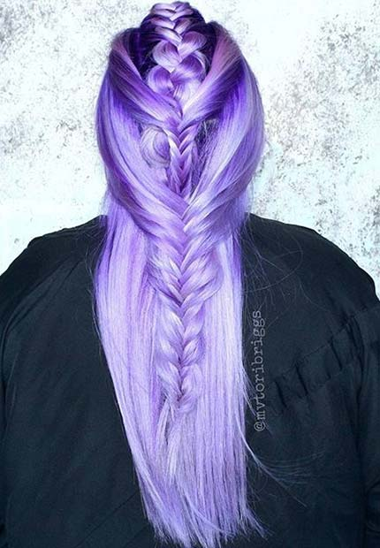 Pastel Lavender Hair Color Idea