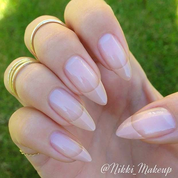 French Tip On Stiletto Nails