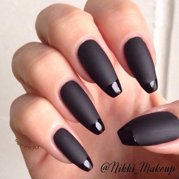 Black Matte French Tip Nails - 31 Cool French Tip Nail Designs Page 2 Of 3 StayGlam