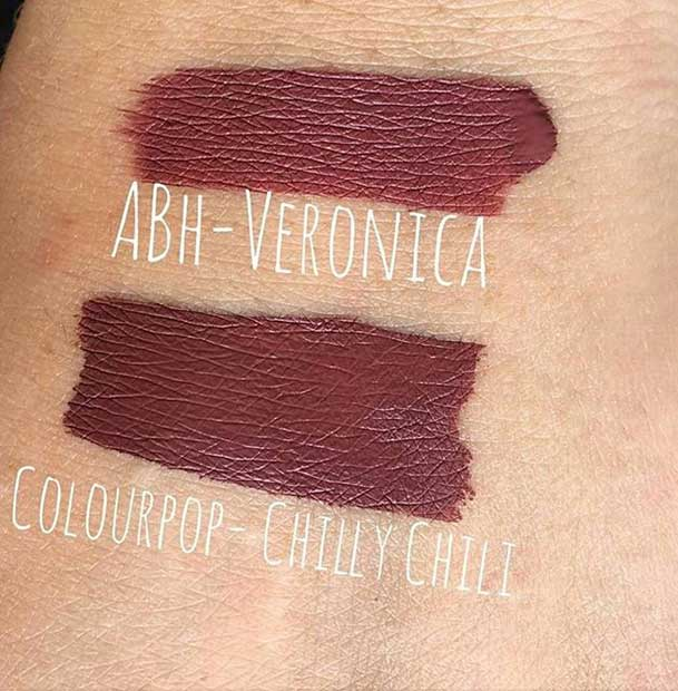 Anastasia Beverly Hills Veronica Lipstick Dupe