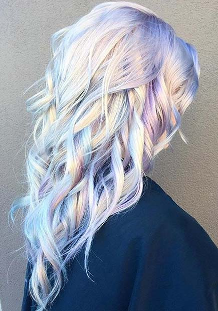 Pastel Holographic Hair