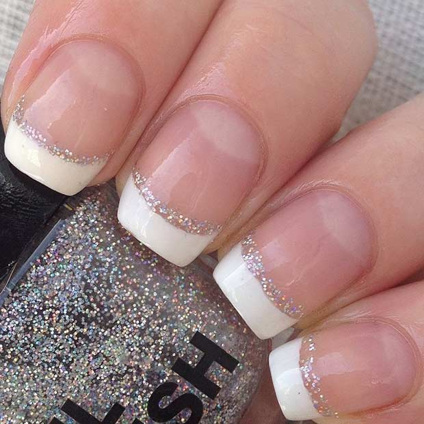 Elegant Silver Nails For Prom: 31 Elegant Wedding Nail Art Designs