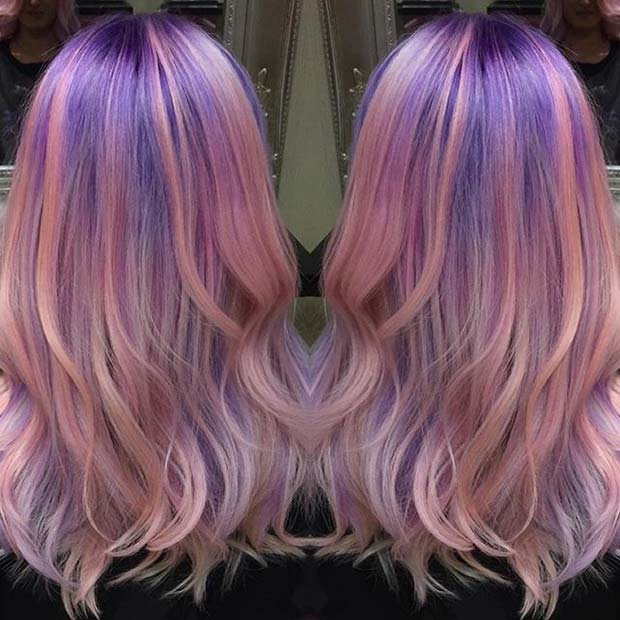 Pink and Purple Pastel Hair