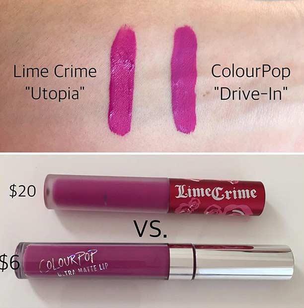 Lime Crime Utopia Lipstick Dupe