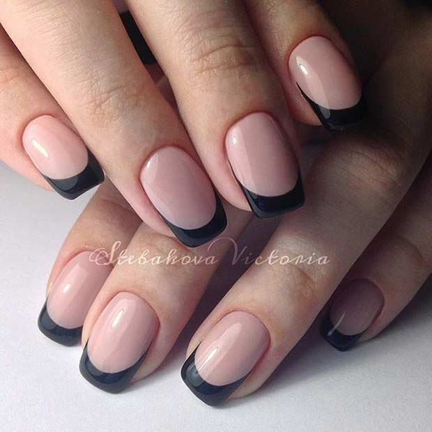 Black French Tip Nails - 31 Cool French Tip Nail Designs Page 3 Of 3 StayGlam