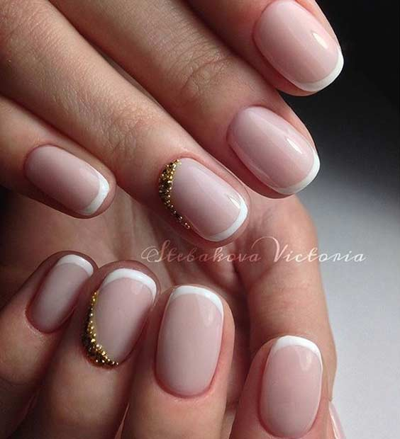 Elegant White French Tip Nail Design