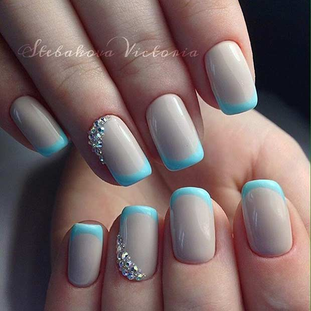 51 Cool French Tip Nail Designs