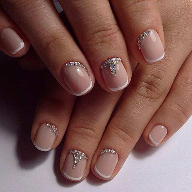 Manicure Designs For Short Nails: 51 Cool French Tip Nail Designs