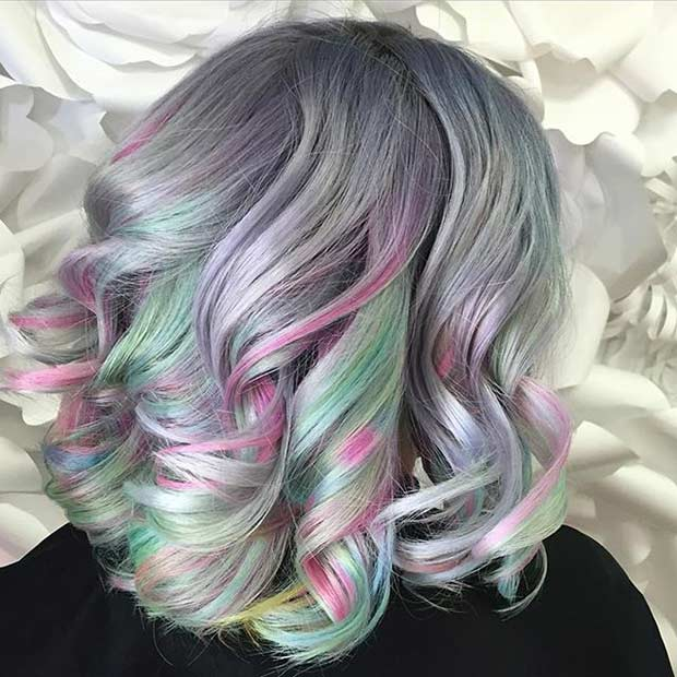 Soft Pastel Tones Hair