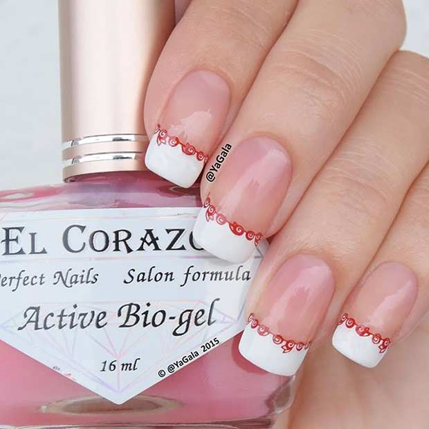 31 Cool French Tip Nail Designs | Page 2 of 3 | StayGlam