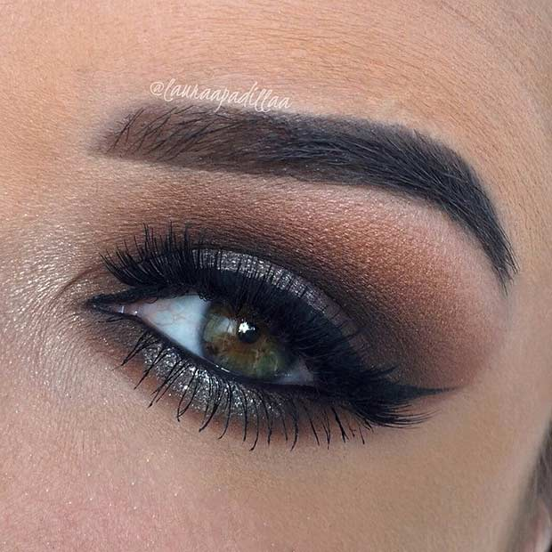 Stunning Smokey Eye Look for Green Eyes