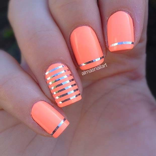 Easy Neon Nail Design for Summer - 55 Super Easy Nail Designs Page 2 Of 6 StayGlam
