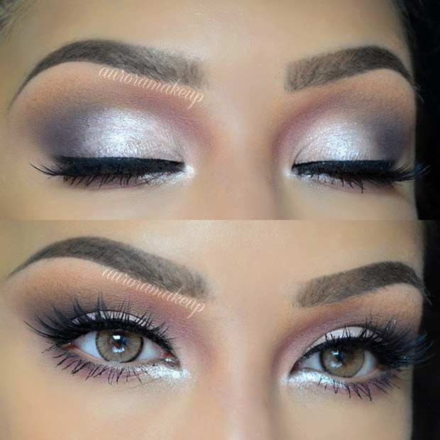 Silver Wedding Makeup Look
