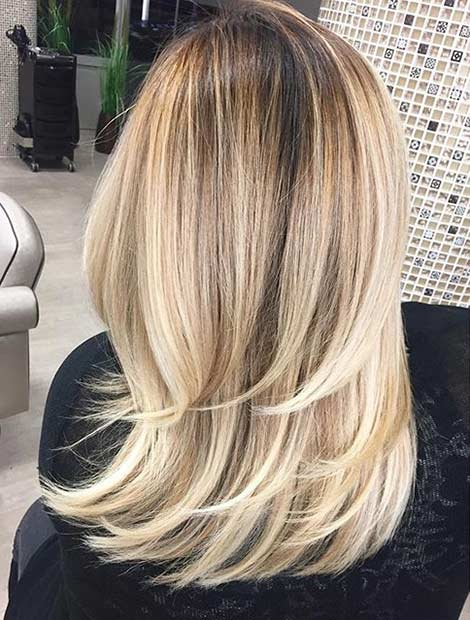 Blonde Medium Hair with Layers