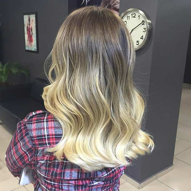 Medium Hair Blonde Balayage Ombre