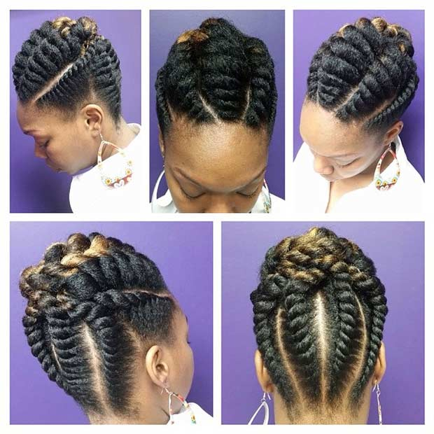 Flip up hairstyles hair is our crown flip up hairstyles 21 gorgeous flat twist hairstyles page 2 of 2 stayglam pmusecretfo Image collections