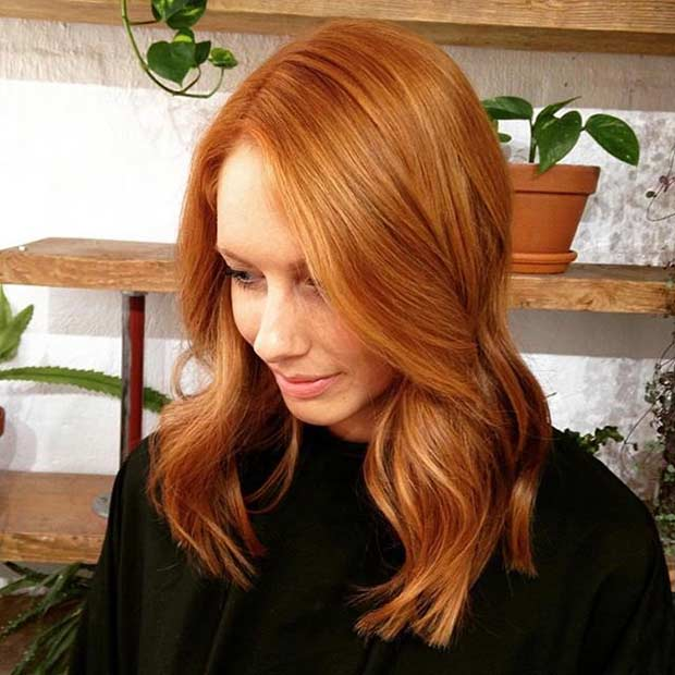 Orange Medium Length Hair