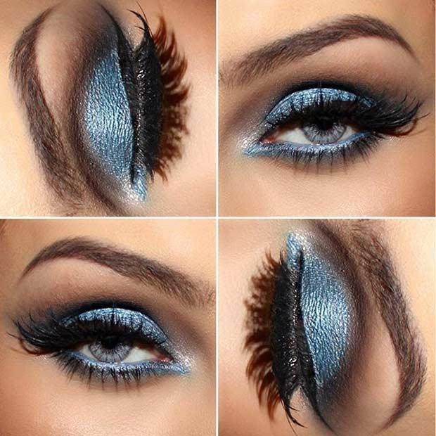 Navy Blue Smokey Eye For Eyes