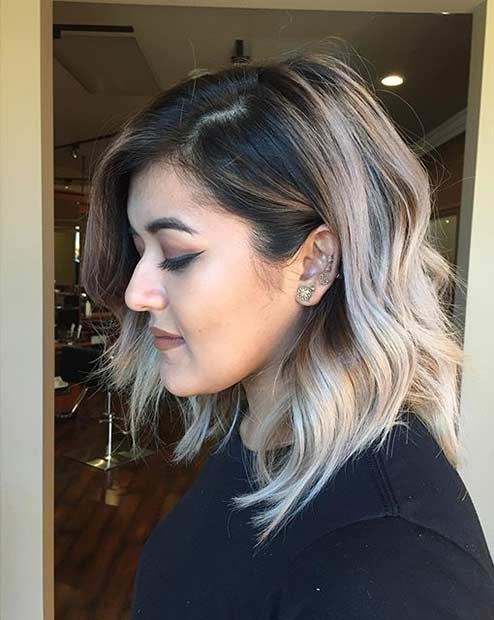 Ash Blonde Shoulder Length Bob Hairstyle