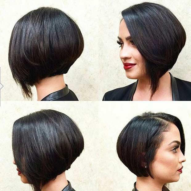 Short Asymmetrical Bob Haircut Idea