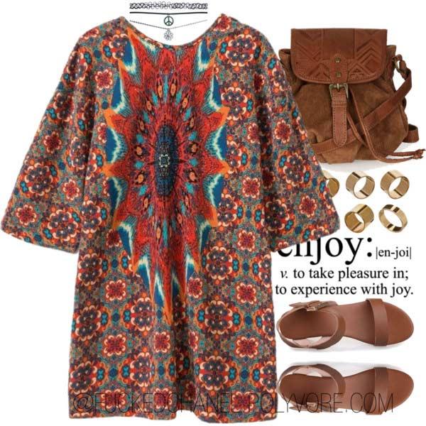 Bohemian Dress Coachella Outfit Idea