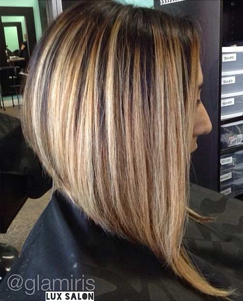 Medium Length Inverted Bob Hairstyle