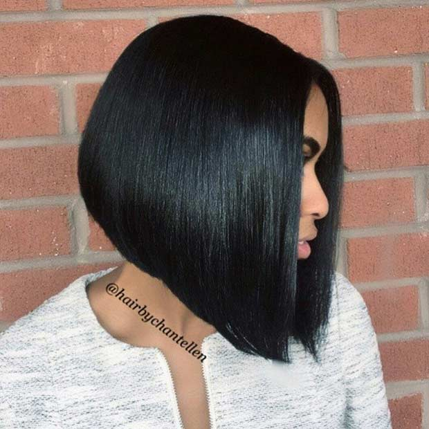 Straight A Line Bob Haircut for Black Women