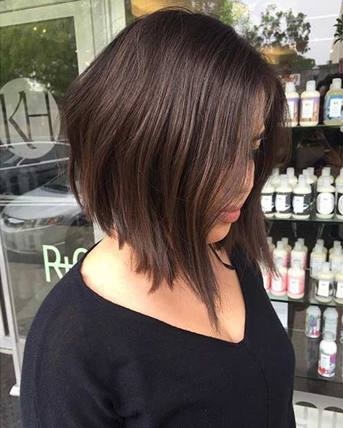 Trendy Inverted Bob Haircut Idea
