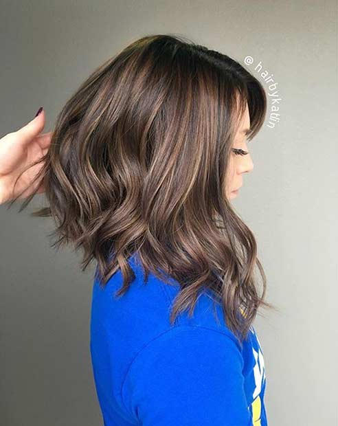 Long Inverted Bob Haircut for Thick Hair