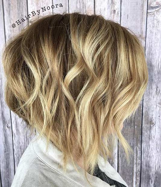 Blonde Inverted Bob with Layers