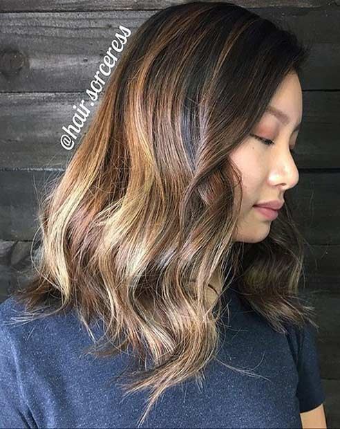 Bronde Medium Length Hair