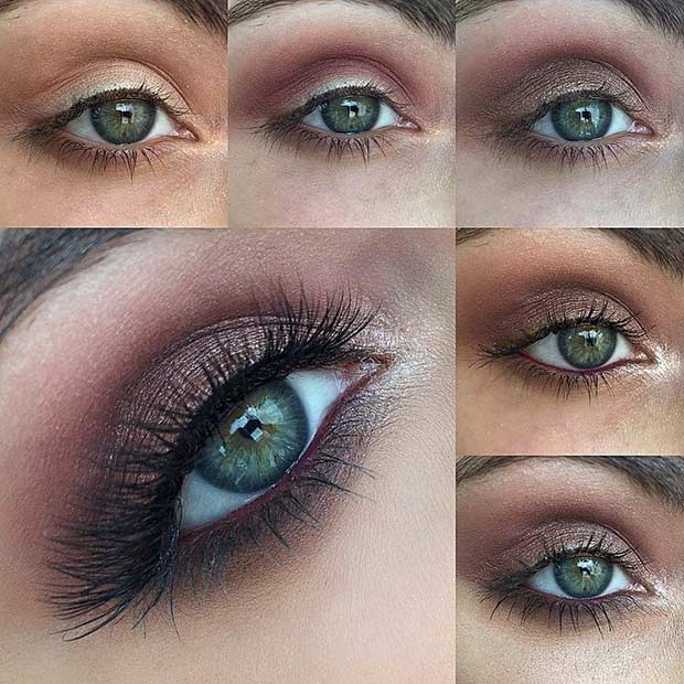 Easy makeup tutorial for green eyes