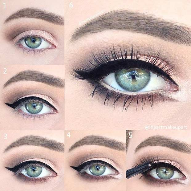 Neutral Eye Makeup Look for Blue Eyes