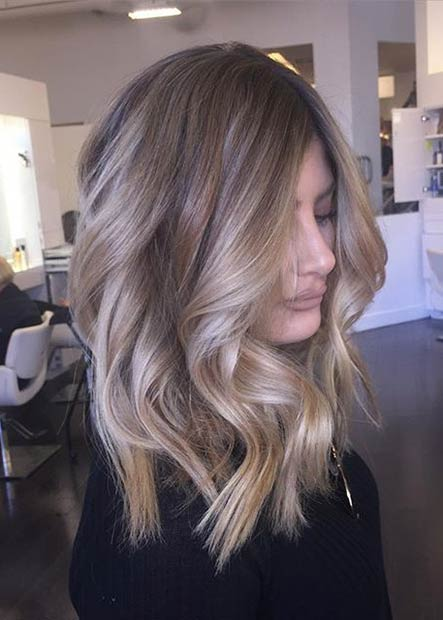 Curly Medium Beige Blonde Hair
