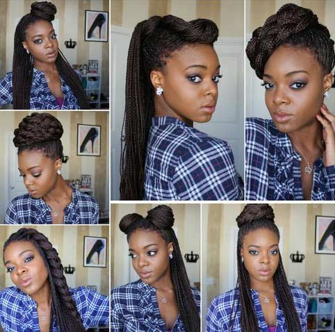 Ways to Style Micro Braids