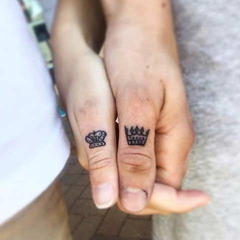 Little Thumb Matching Tattoos for Couples