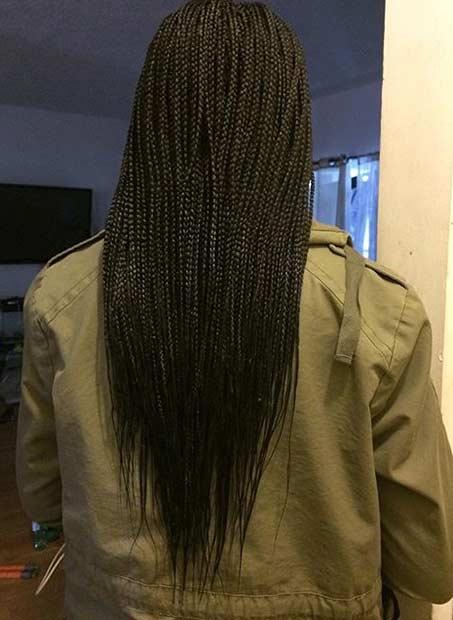 Micro Braids Style for Black Women