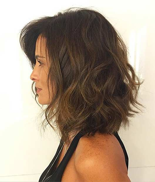 Messy and Textured Bob Haircut Idea