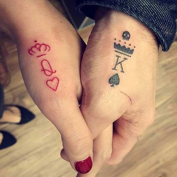 Queen And King Tattoos Tumblr 61 Cute Couple ...