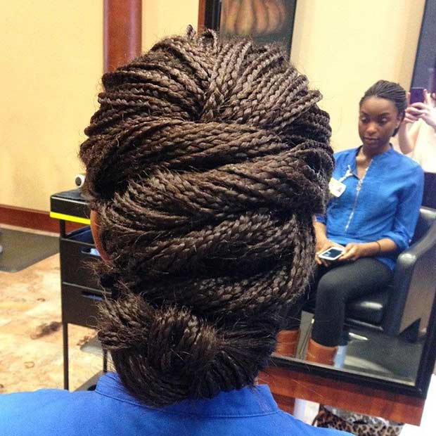 Micro Braids Hairstyles Updos micro braids updo thirstyroots.com ...