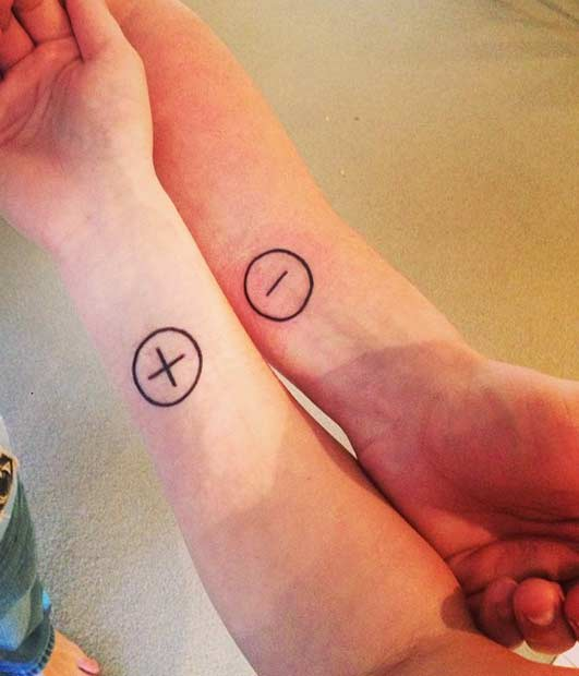 Couple Electron and Proton Matching Tattoos