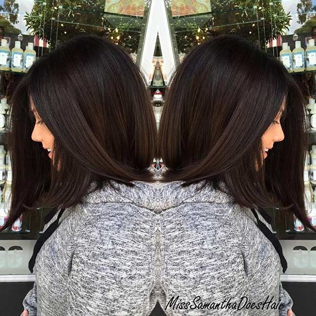 Mid Length Bob Haircut for Thick Hair