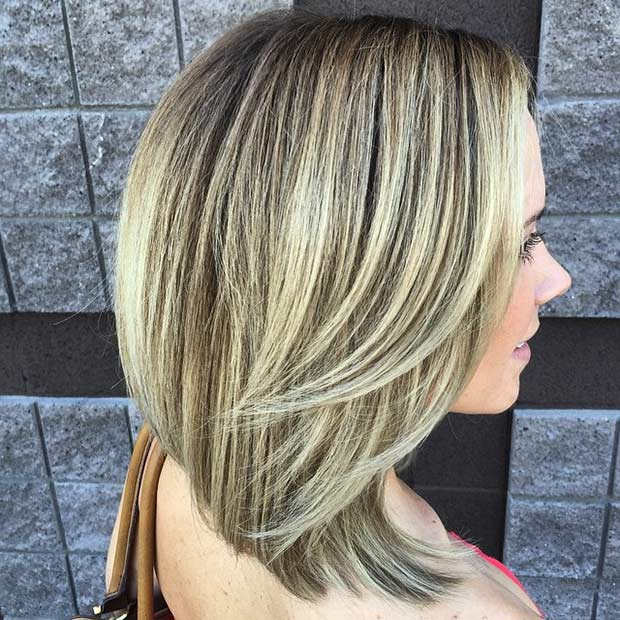 Elegant Blonde Bob Haircut