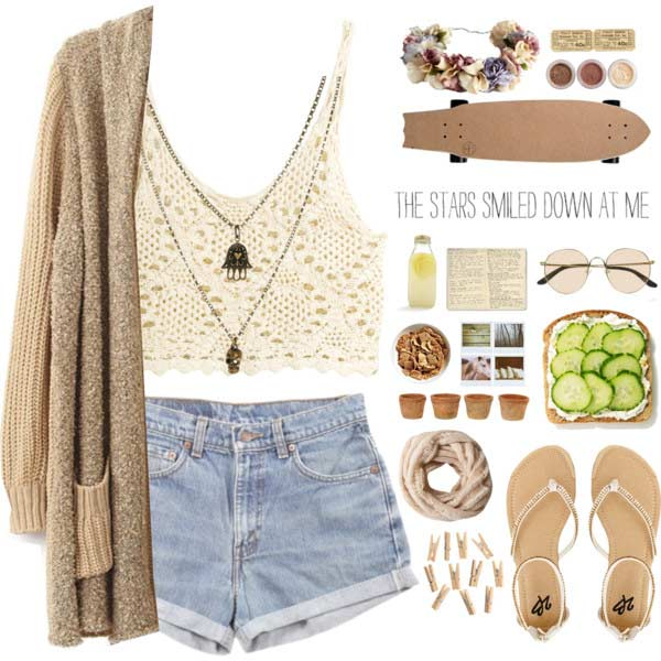 Denim Shorts Crochet Top Coachella Outfit