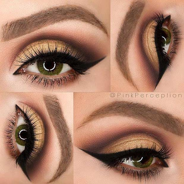 31 pretty eye makeup looks for green eyes page 3 of 3 stayglam. Black Bedroom Furniture Sets. Home Design Ideas
