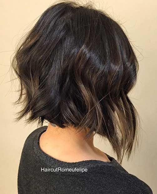 Textured Short Bob Haircut Idea
