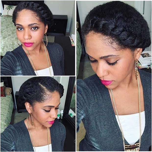 21 gorgeous flat twist hairstyles page 2 of 2 stayglam cute and easy flat twist updo pmusecretfo Choice Image