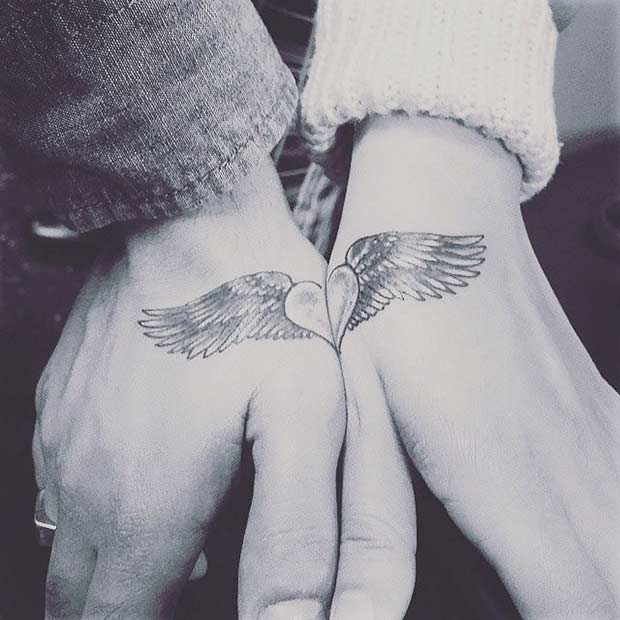 Connecting Heart Arm Tattoo for Couples